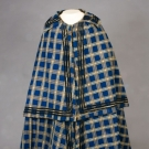 LADY'S BLUE PLAID WINTER CLOAK, 1840-1860