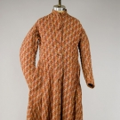 GENT'S RED PRINT DRESSING GOWN, c. 1865