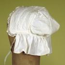SMALL CHILD'S WHITE LINEN DRESS, MID 19th C