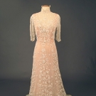 IRISH CROCHET TEA GOWN, c. 1910