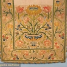 EMBROIDERED PANEL OR RUNNER, 17th-18th C.