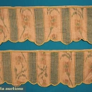 PAIR SILK CHINE VALENCES, 18th C
