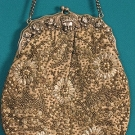 STERLING & BEADED EVENING BAG, 1920s