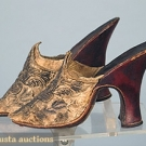 PAIR OF LADY'S MULES, 1690-1720