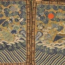 PAIR KESI MALE CIVIL RANK BADGES, CHINA, 19TH C