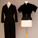 TWO BLACK COUTURE DIOR GARMENTS, 1947 & 1955