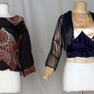 TWO PAQUIN COUTURE BLOUSES, 1912 & 1925