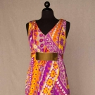 GALANOS PRINTED SILK DRESS, c. 1968