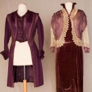 PLUM AFTERNOON DRESS & JACKET, NEW YORK, c. 1912