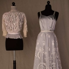 TWO WHITE LACE GARMENTS, 1900-1910