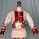 LEATHER APPLIQUE SHEARLING JACKET, HUNGARY, c. 1900