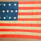 CIVIL WAR ERA THIRTEEN STAR NAVAL FLAG, 1862-1872