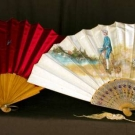 TWO PAINTED SILK FANS, 1890-1910