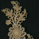LARGE SEED PEARL BROOCH, MID 19TH C