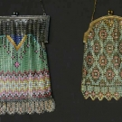TWO WHITING & DAVIS ENAMELED MESH PURSES, 1920s