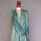 TURQUOISE & SILVER LAME GOWN & STOLE, 1959