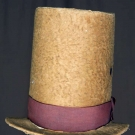 GENT'S BROWN HIGH HAT, AMERICA, 1840s