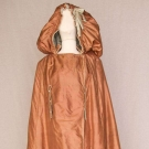 LADIES' HOODED LONG SILK CLOAK, 1790s