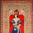 FIGURAL RESCHT WALL HANGING, PERSIA, 19TH C