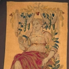 FEMALE FIGURE TAPESTRY FRAGMENT, 18TH C