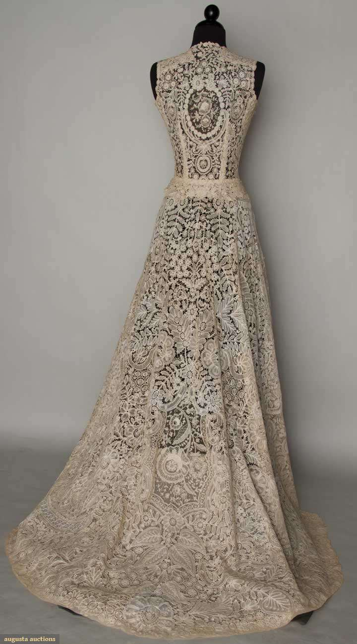 Augusta auctions for Brown lace wedding dress