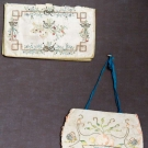 TWO EMBROIDERED PURSES, EUROPE, 18TH C