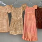 FOUR CHILDREN'S DRESSES, 1830-1860s