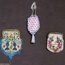 THREE BEADED MINATURE PURSES, MEXICO, 1810-1830s