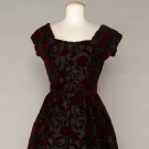 DIOR CUT VELVET PARTY DRESS, 1954