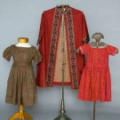 THREE CALICO CHILDREN'S GARMENTS, 1830-1860s