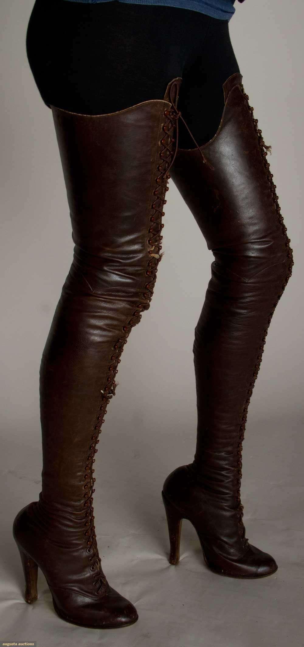 Boot fetish thigh