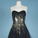 JACQUES HEIM SEQUIN & TULLE BALLGOWN, LATE 1940s