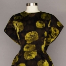 CHRISTIAN DIOR PRINTED SILK PARTY DRESS, 1950s-1960s