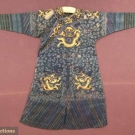 BLUE SILK GAUZE SUMMER JIFU, CHINA, 19TH C