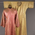 TWO SILK BROCADE ROBES, MIDDLE EAST