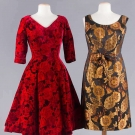 TWO COCKTAIL DRESSES, 1950-1960s