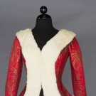 RED SILK & LAME BROCADE JACKET, 1930s