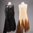 TWO EVENING DRESSES, 1920s