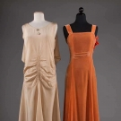 TWO BIAS-CUT EVENING DRESSES, 1930s