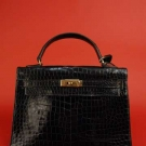HERMES KELLY ALLIGATOR HANDBAG, MID 20th C