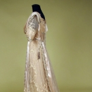 PARIS SILVER BROCADE & LACE TEA GOWN, c. 1912