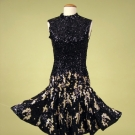 TEAL TRAINA SEQUIN  PARTY DRESS, c. 1968