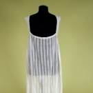 WOVEN WHITE STRIPED DRESS, 1825-1835