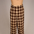 GENT'S COTTON PLAID TROUSERS, 1840-1860