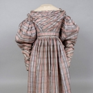 WOVEN PLAID DAY DRESS, 1830s