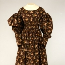 FLORAL ROLLER PRINTED COTTON DRESS, 1825-1835