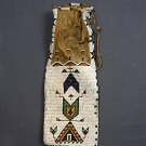 CAYUSE BEADED TOBACCO BAG, 19th C